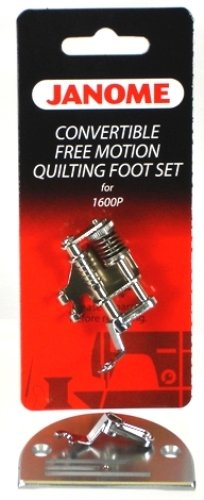 Free Janome Motion Foot - Janome Convertible Free M otion Quilting Foot Set for 1600P