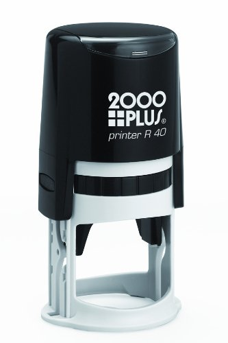 Cosco 2000 Plus Printer R40 Customize with text or upload your artwork Round self inking stamp ()
