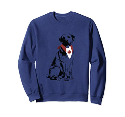 Lab Flag | Canadian Canada Flag Labrador Pet Sweatshirt -