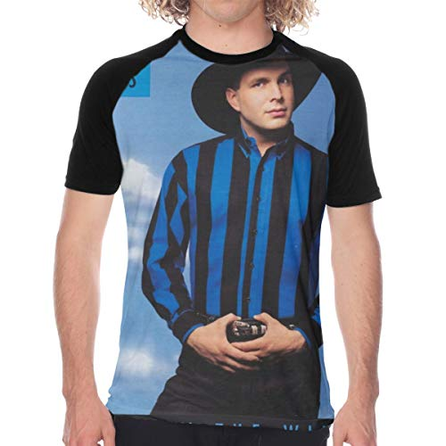 Summer Mens Comfort Baseball Short Sleeves Tshirts Raglan Sleeve T Shirts XXL - Garth Brooks Black (Garth Brooks Two Of A Kind Original)