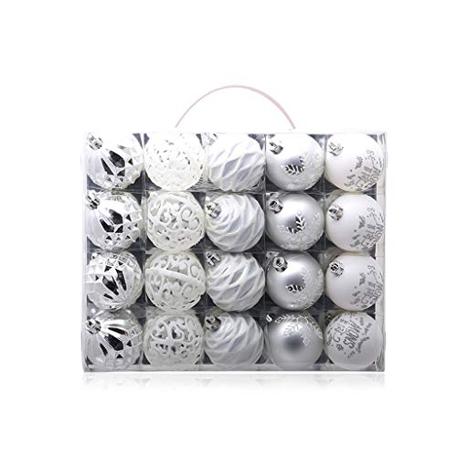 chuwa Luxury Shatterproof Christmas Balls Ornaments Decorative Hanging Christmas Ornaments Baubles Set for Xmas Tree 20 Counts (Show Christmas Baubles)