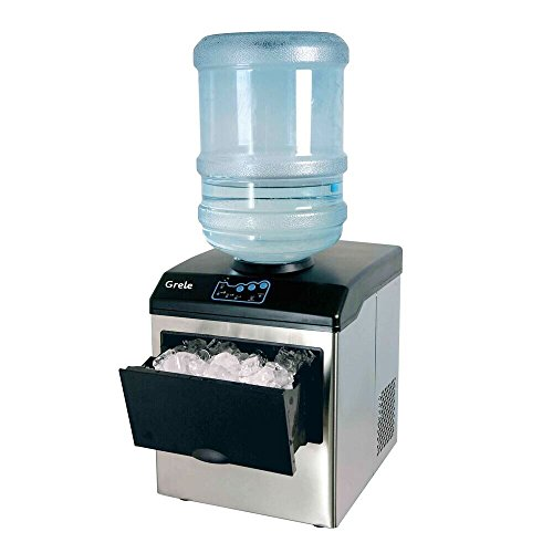 Ice Maker, GRELE Portable Intelligent Ice Cube Making Machine Commercial Ice Cube Maker