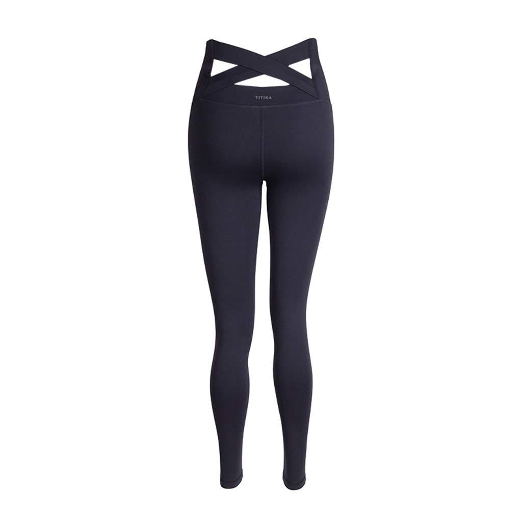 noir X-petit Pantalons de sport Pantalons De Yoga, Collants Taille Haute VêteHommests De Yoga Pantalons Taille Haute pour Printemps Et été Pantalons Ventre Leggings (Couleur   rouge, Taille   L)
