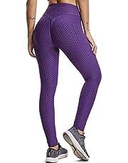 FITTOO Broek Capri 3/4 Sport Damens Vrouwen Tie-Geverfd Korte Leggings Hoge Taille Slim Push Up Yoga Broek voor Gym jogging Fitness