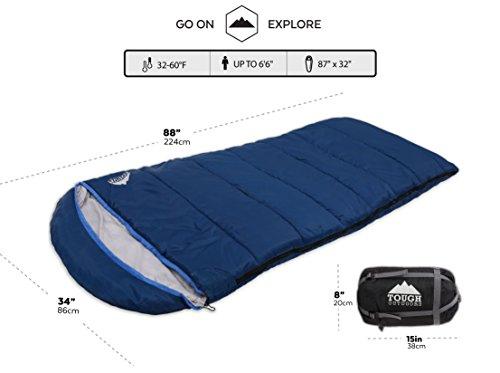 All Season Xl Hætteklædte sovepose med Compression Sack-7620
