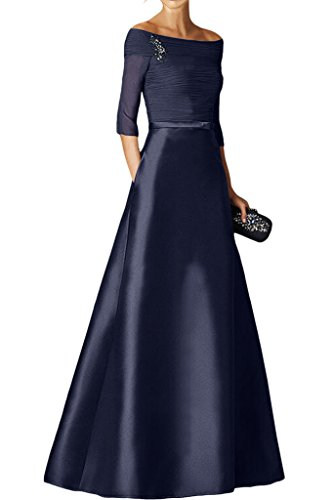 mia Dunkel Chiffon Burgundy Blau Navy Brautjungfernkleider Braut Partykleider Langarm La Satin Promkleider Abendkleider Neu RPdICwCqx