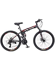 Folded Mountain Sport Bike, Steel Frame, 26 inches wheels, Transmission Shimano Tourney 21 speed gears, Front assists, Disc Brake