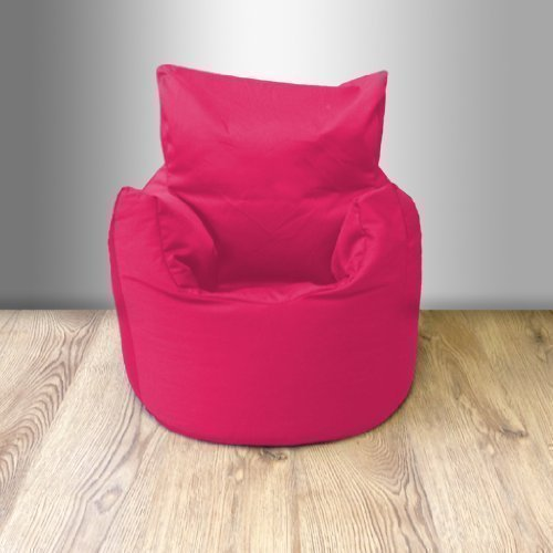 Ready Steady Bed Childrens 100% Cotton Twill Pre-Filled Bean Chair, Hot Pink