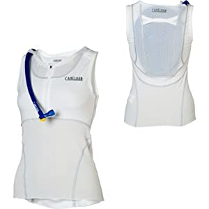 Camelbak RaceBak Women's 72 Oz Wearable Hydration, X-Small, White/Silver