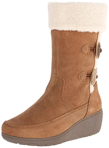 Khombu Women's Clara Snow Boot,Tan,9 M US