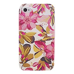 GJYPink Flower Back Case with Front Frame and MiGJYe Frame for iPhone 4/4S