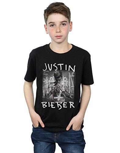 (Justin Bieber Boys Purpose Album Cover T-Shirt 7-8 Years Black)