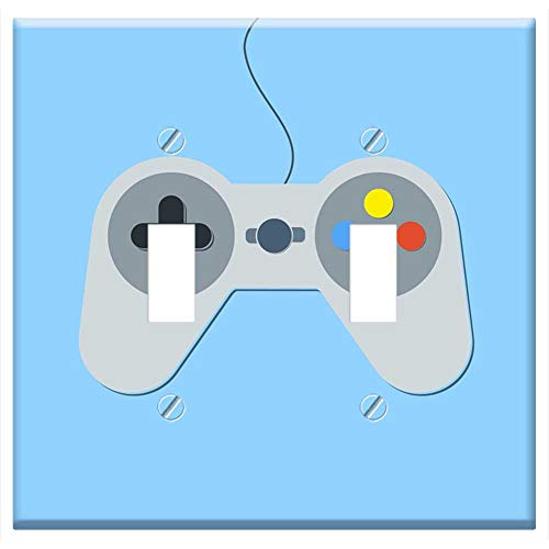 (Switch Plate Double Toggle - Joystick Video Game Wallpaper Flat X-Box Xbox)
