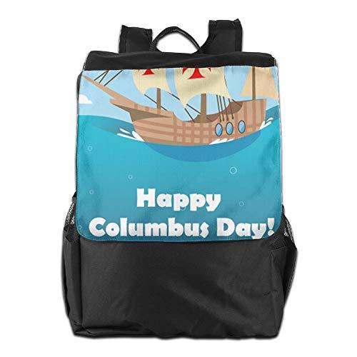 para Ajustable Mujeres Camping Almacenamiento Personalizada para Mochila Correa con el Hombres al Happy Day Aire HSVCUY y School Viaje Libre Hombro para diurno Columbus SOw4qx16p