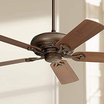 52 Quot Trilogy Rustic Ceiling Fan Oil Rubbed Bronze Walnut