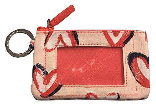 - Vera Bradley Women's Zip ID Case (Hearts Pink)