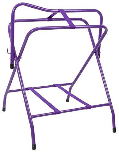 Tough-1 Folding Floor Saddle Rack w/Web Bottom Purple by Tough-1 (Image #1)