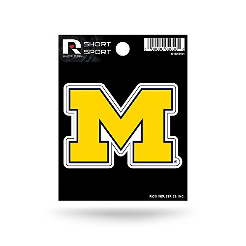 NCAA Michigan Wolverines Die Cut Team Logo Short Sport Sticker
