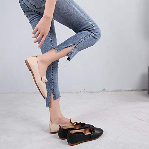shoes B ladies soft shoes bow flat slip shallow shoes comfortable Sweet FLYRCX maternity non bottom mouth work aUxqfnZpw