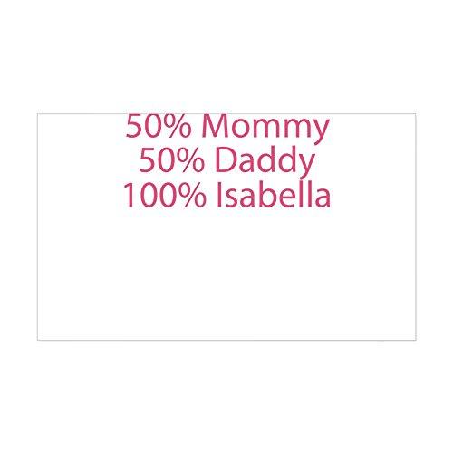 CafePress 100% Isabella Sticker (Rectangle) Rectangle Bumper Sticker Car Decal ()