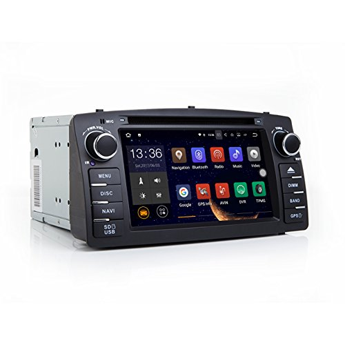 TOOPAI Android 7.1 Car Stereo Head Unit for Toyota Corolla E120, with DVD Player, GPS Navigation, and Multimedia System