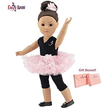 "Pink Prima Ballerina 2pc Set with Ballet Shoes Fits 18/"" American Girl Dolls"