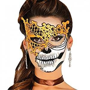 Guirca Halloween Gold Latex Venetian Eyemask -