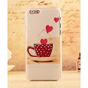 HJZ Sweet Love Heart Coffee Style Plastic Hard Back Cover for iPhone 6