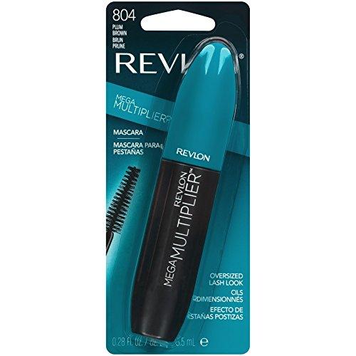Revlon Mega Multiplier Mascara, Plum Brown, 0.28 Fluid Ounce