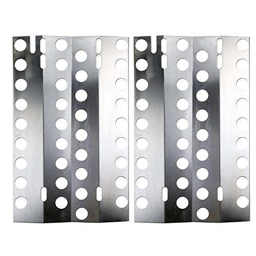 Hisencn BBQ Replacement Stainless Steel Heat Plate, Burner Cover Replacement for Select DCS 27, Kirkland Gas Grill Models (16 1/2