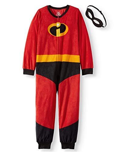 Disney Pixar Incredibles 2 Unisex Kids Union Suit Pajama with Mask -