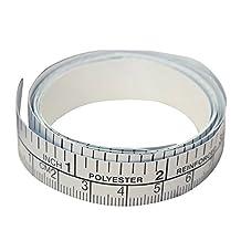 Binglinghua 150cm Vinyl Silver Self Adhesive Measuring Tape Ruler Sticker For Sewing Machine (1PCS)
