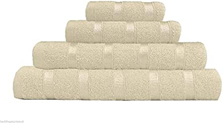 TNA Juego de Toallas 100% algodón Egipcio Satinado, para Cara, Manos, Toallas de baño, Toalla de baño, Crema, de Mano: Amazon.es: Hogar