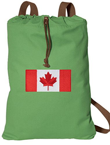 Canada Drawstring Backpack Canadian Flag Bags COTTON Not Nylon (Backpack Flag Canada Women compare prices)