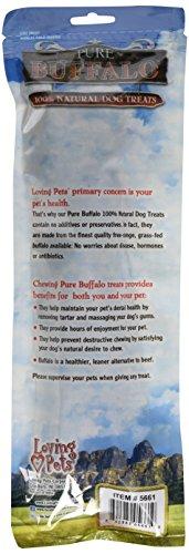 Image of Loving Pets Pure Buffalo 9-Inch Braided Bully Stick Dog Treat, 2-Pack