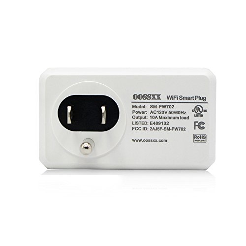 Superior Quality Mini Wifi-Enabled Smart Outlet By OOSSXX - No-Hub Wireless Plug - Compatible With Lights, Home Appliances - Remote Control With Smartphone/Tablet - Works W/Amazon Alexa by OOSSXX (Image #1)