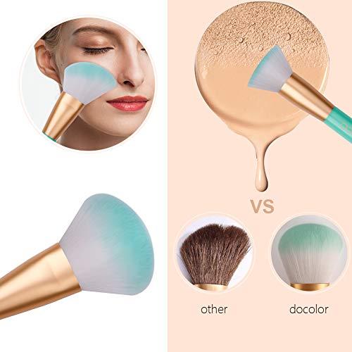 Docolor Makeup Brushes Set, Eyeshadow Brushes Kabuki Foundation Blending Powder Blush Contour Professional Brush Set for Make Up(9pcs, green)