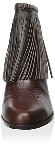 Women's Chocolate Fringe Bettye Bootie Muller fp157SqU