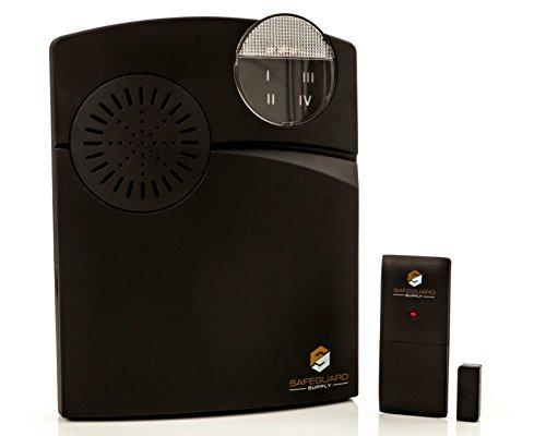Entrance Alert - Retail Store Door Chime - Door Contact Alarm With Contact Sensor & Wireless Door Chime - Wireless Doorbell Long Range Up To 1000 Ft. by Safeguard Supply