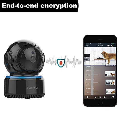 Haicam IP Camera End-to-End Encryption Home Security Surveillance Monitor with 2 Way Audio/Motion Sound Detection/Amazon/Apple/Google TV Apps - Cloud Service E23