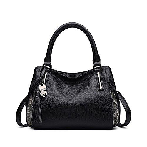 Nuova A Di Borsa Grande Moda Alla Mano Black Tracolla Capacità Mobile Donna Versatile Atmosfera Da rrqxwd0f