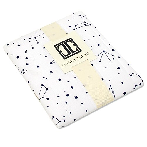 Ivanka Trump Stargazer Collection: Contoured Diaper Pad Cover for Diaper Changer - Galaxy Star Pattern in White and Blue - Mobile Infant Changer