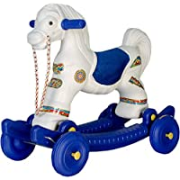 JJP 2-in-1Baby Horse Rider for Kids 1-5 Years Birthday Gift for Kids/Boys/Girls (Multicolour) (Blue & White)