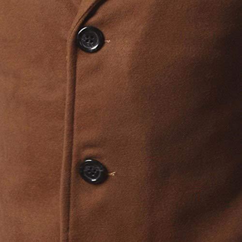 Exteriores Khaki Slim Corte Solo Color Vestir Guisantes Pantalón Chándal Sólido Para Pecho Negocios Prendas Hombre Manga Moda 3 Hombres Chaquetas Larga Un Betrothales Abrigo Ff1Sxwqn