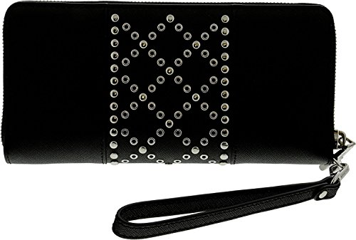Michael Kors Money Pieces Travel Continental Wallet Black Leather by Michael Kors (Image #2)