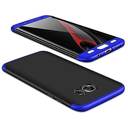 JMGoodstore Hülle Kompatibel Samsung Galaxy S7,+Panzerglas Displayschutzfolie,3 in 1 Ultra Dünn 360 Full Body Anti-Kratzer Ha