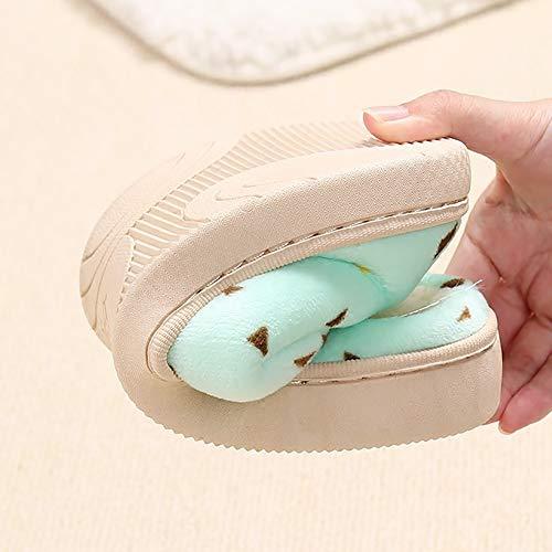 Antidérapant La Douce Chaussures Pantoufles Coton Femme Bas D'hiver Maison Mois Couples Épais Green De À Alte D En 5SYqw67w