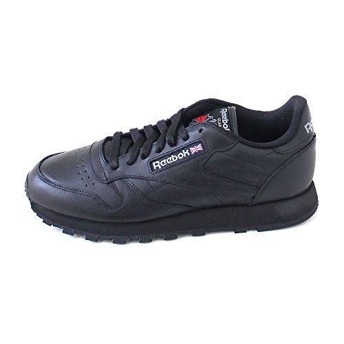 Reebok Classic Leather - Zapatillas de cuero para hombre Black