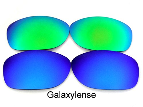 Galaxy Replacement Lenses for Oakley Pit Bull Blue&Green Color Polarized 2 Pairs,FREE - Bull Sunglasses Pit