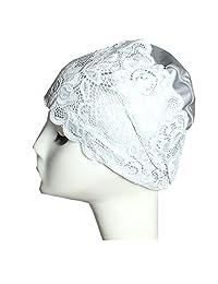 Women Swim cap Floral Lace Style Bathing Caps Long Hair